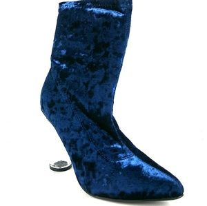 cb2babb324c Navy Blue Clear Chunky Heel Bootie NWT